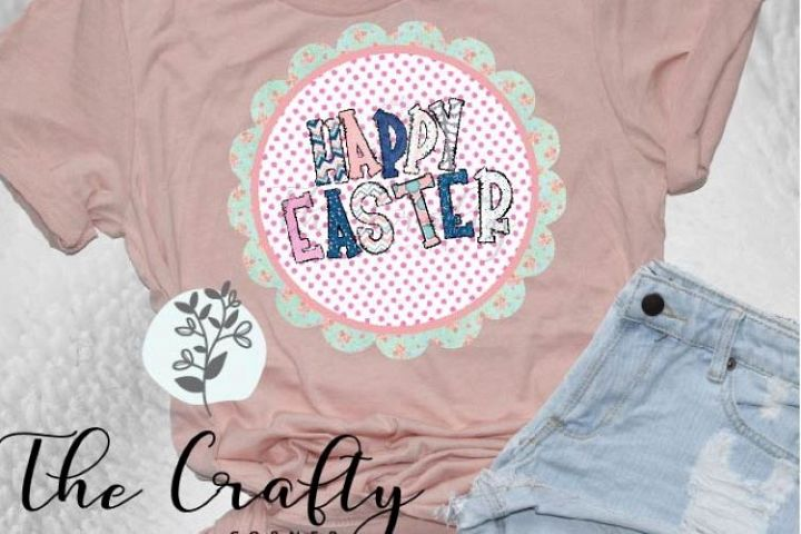 Happy Easter Sublimation Design