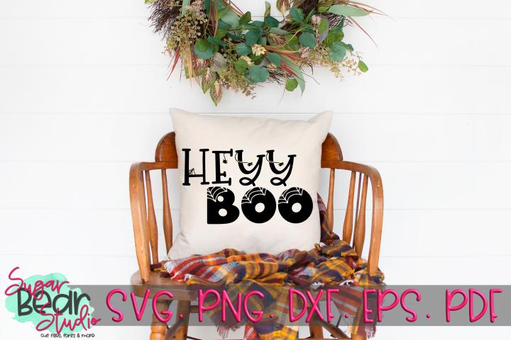 Hey Boo - A Halloween SVG