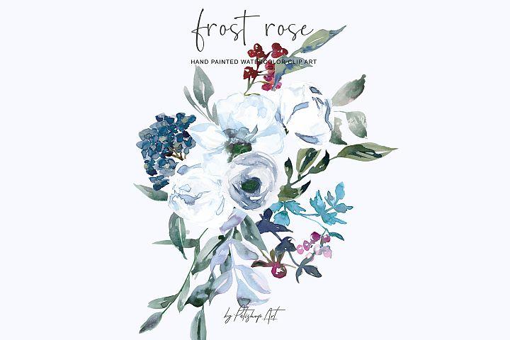 Watercolor White Rose Arrangements Clipart