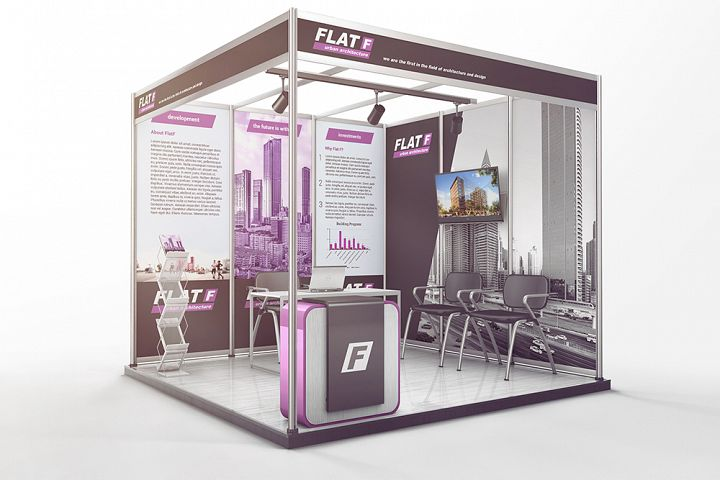 Various Exhibition Trade Show Shell Scheme Mockup