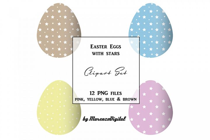 Easter Eggs with Stars