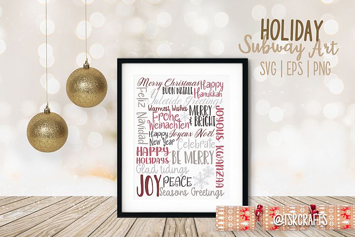 Winter Holidays Subway Art - SVG | EPS | PNG | PDF
