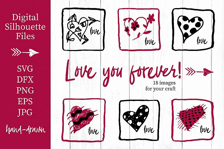 Lovely valentines day set - #2 SVG collection