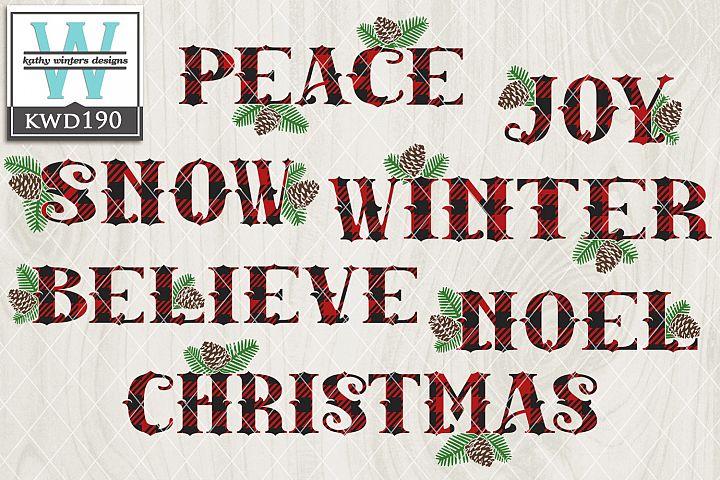 Christmas SVG - Buffalo Plaid