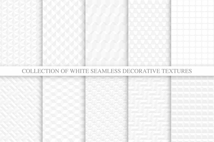 White 3d geometric seamless textures