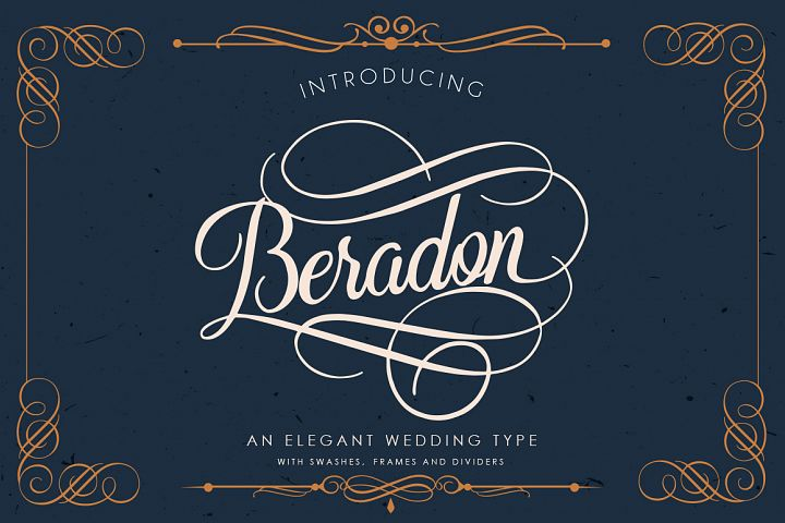 Beradon Script - Elegant Wedding font - Free Font of The Week