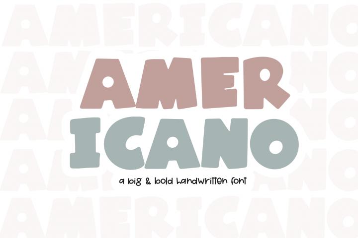 Americano - A Fun Handwritten Font