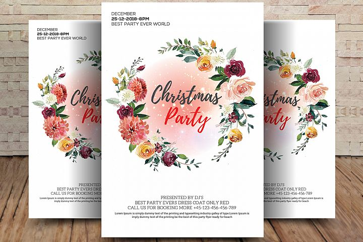 Sexy Christmas Party Flyer Template