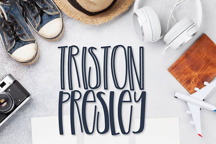 Triston Presley - A Tall Boy Font Duo