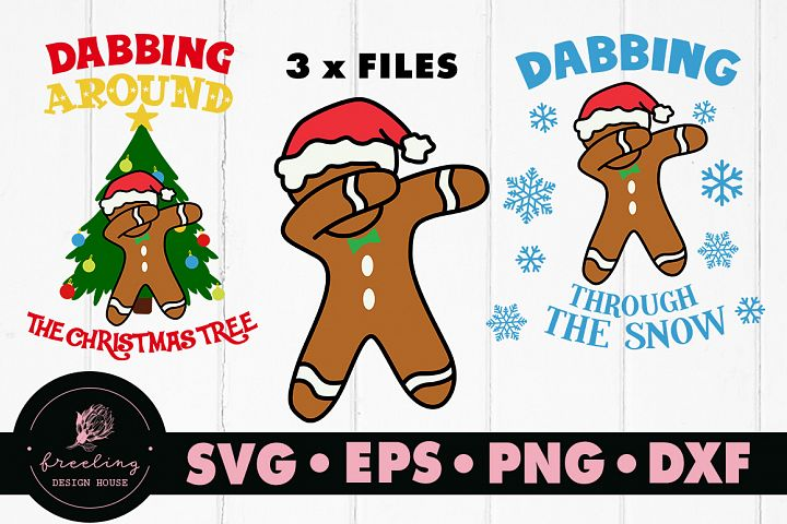Dabbing Gingerbread Christmas Mini SVG Bundle