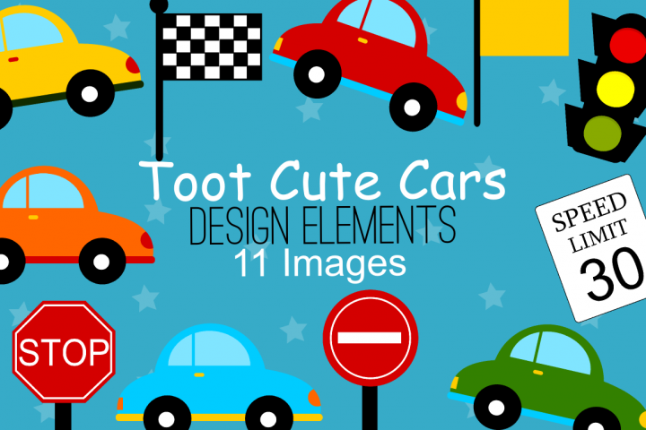 Cute Cars Graphics, Illustrations, Clipart