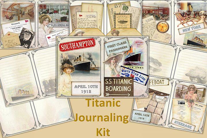 Titanic Journaling Kit with free ephemera JPEG, PDF and PNG
