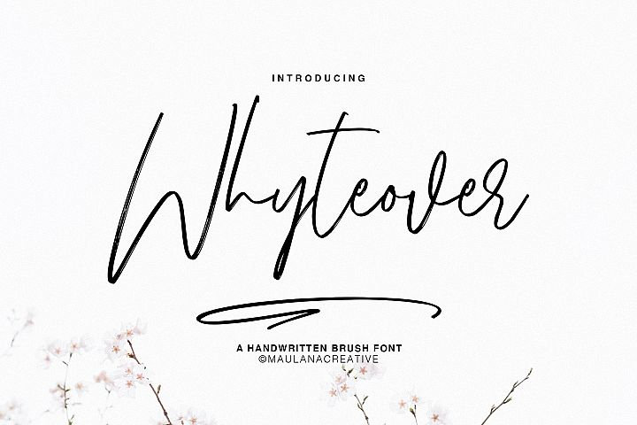 Whyteover Typeface