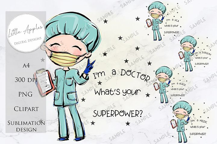 IM A SURGEON WHATS YOUR SUPER POWER? - Sublimation BUNDLE