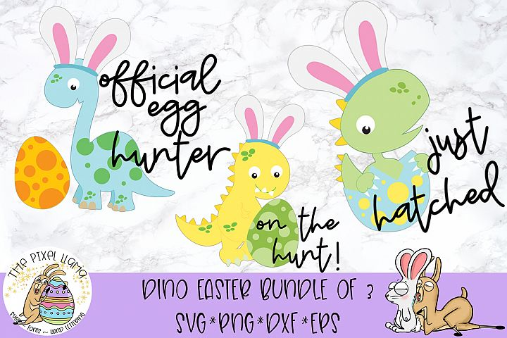 Dinosaur Easter SVG Cut File
