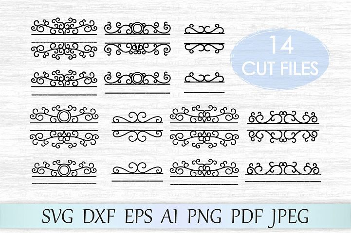 Mailbox monogram svg, Mailbox svg file, Mailbox frame svg, Monogram frame svg, Mailbox monogram cut file, Split frame svg, Divider svg