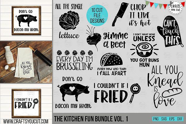 Funny Kitchen Bundle Vol. 1- An SVG Cut File Bundle