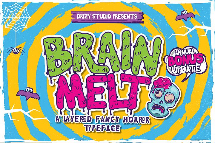 Brain Melt Layered Typeface UPDATE!