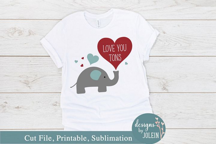 Love You Tons SVG, png, eps, sublimation, printable