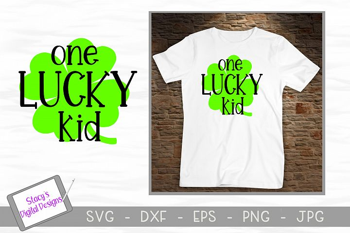 St. Patricks Day SVG - One Lucky Kid SVG