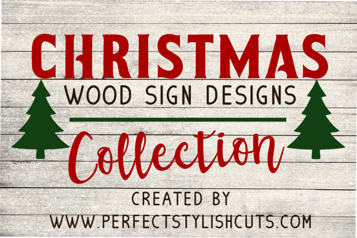 Christmas Wood Sign Designs Collection - Christmas SVG Files
