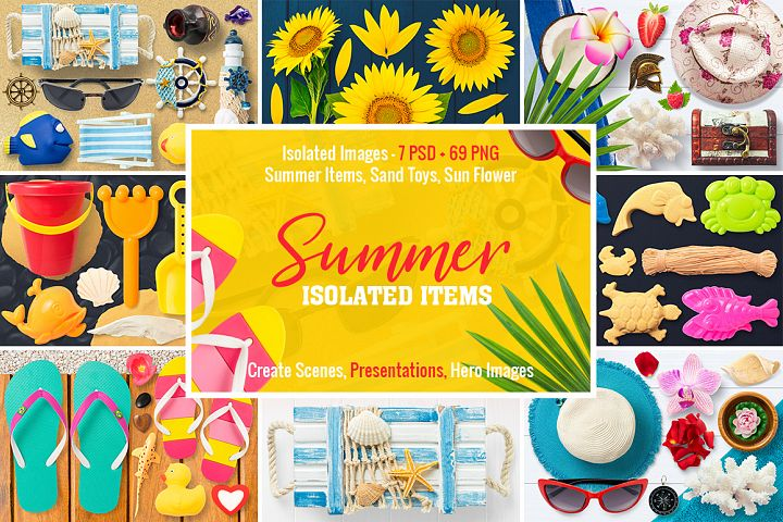 Isolated Summer Items