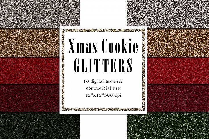 Christmas Glitters, Holiday Digital Paper