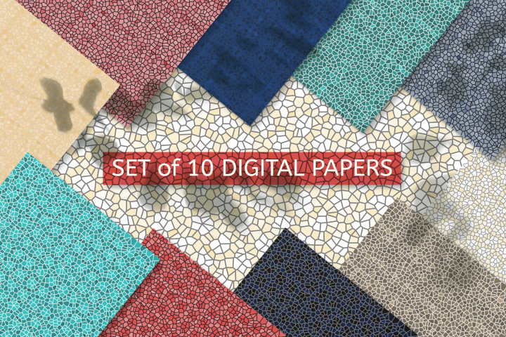 Digital Scrapbooking Papers - Mosaic Textured Background