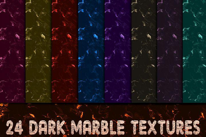 24 Dark Marble Textures Version I