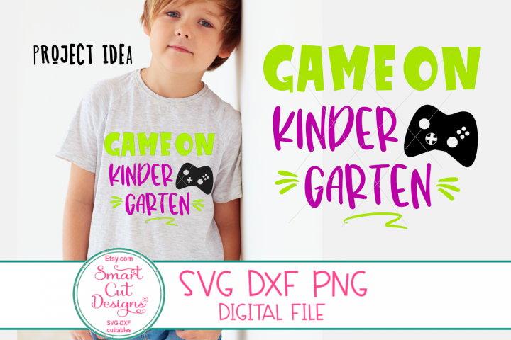 Kindergarten Game On SVG, Kindergarten Boy SVG, Game On SVG