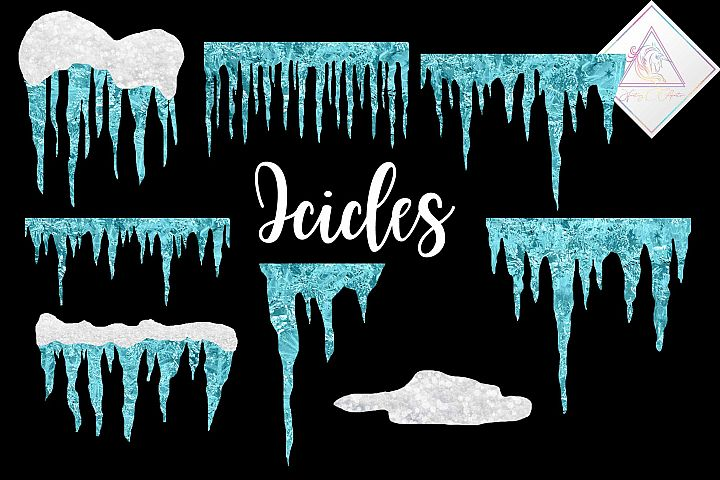 Frosted Icicles Clipart
