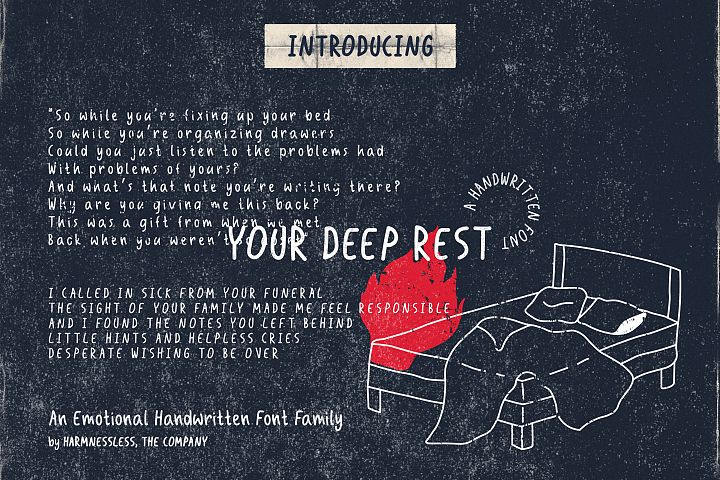 Your Deep Rest - Handwritten Font