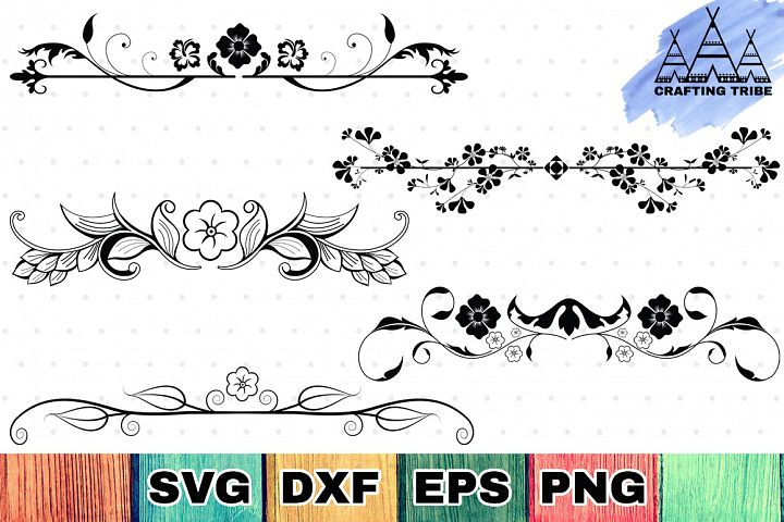 Floral Dividers SVG Cut Files Pack
