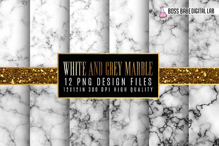 White Marble Digital Paper