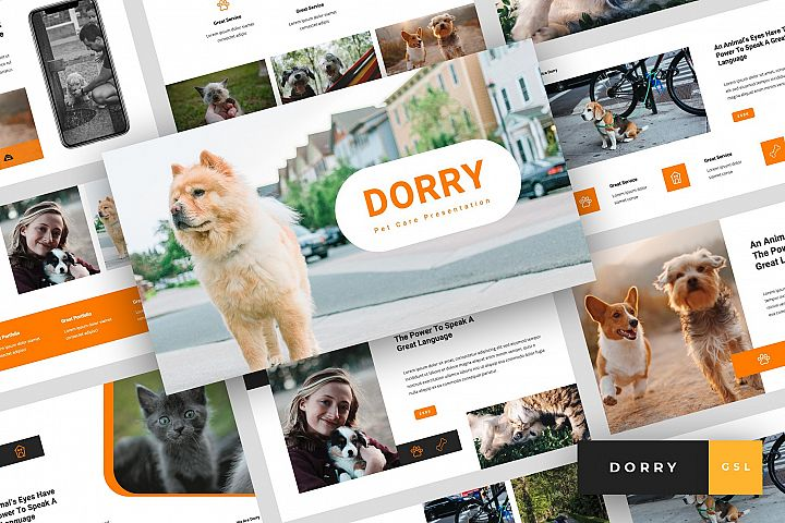 Dorry - Pet Care Google Slides Template