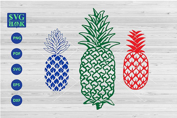 Pineapple svg, set of pineapple clipart, pineapple vector