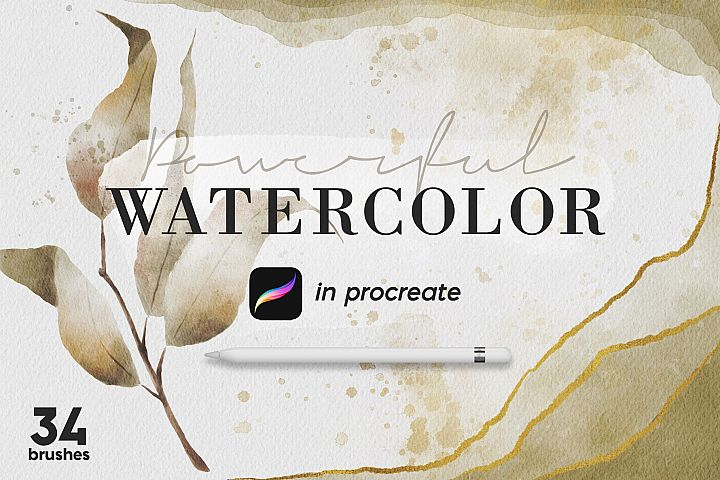 Powerful Watercolor Kit for Procreate