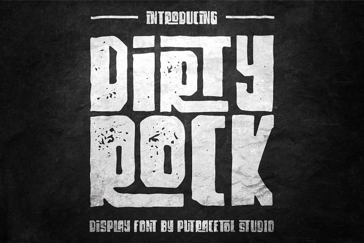 Dirty Rock Typeface - Free Font of The Week Font