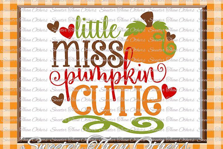 Fall SVG, Little Miss Pumpkin Cutie svg, Thanksgiving Svg