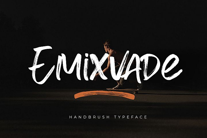 Emixvade - Handbrush Font