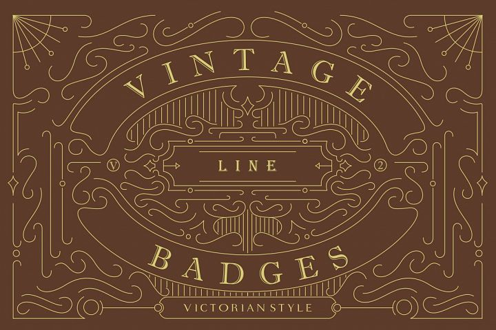 Vintage Line Badges Vol. 2