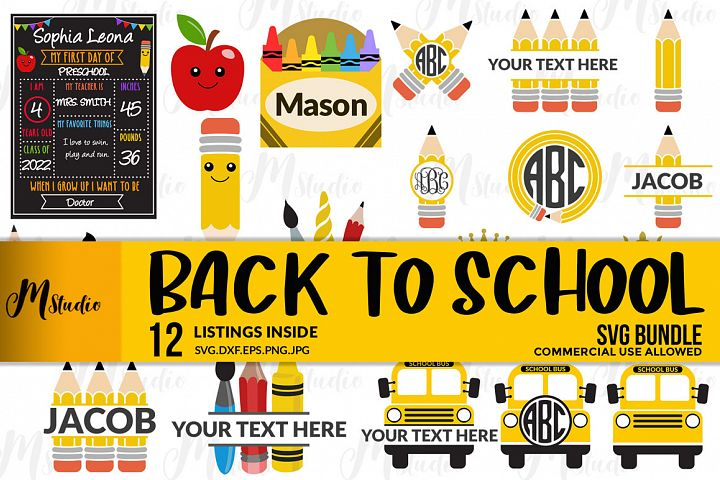 Back to School Bundle Svg.