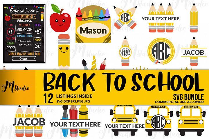 Back to School Bundle Svg.