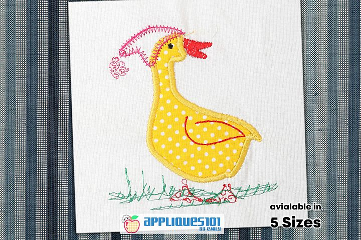 White Duck Embroidery Applique Design - Birds