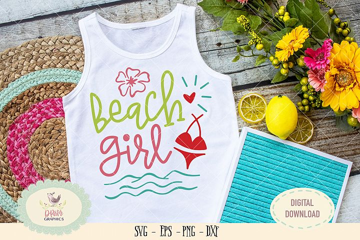 Beach Girl SVG cut file summer beach svg