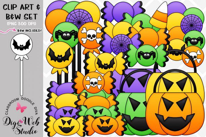 Clip Art / Illustrations - Halloween Treats - Candy