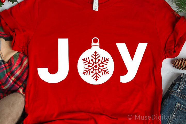 Joy Svg, Christmas Joy Svg, Christmas Ornament Svg Christmas