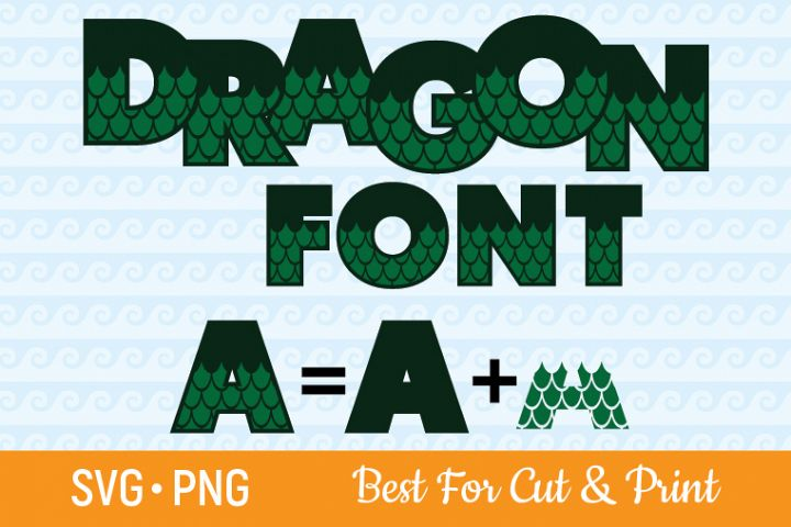 Dragon Alphabet SVG Dragon SVG Dragon Font SVG Letters SVG