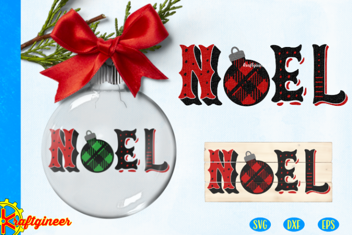 Christmas SVG - Plaid Noel CUT FILE, DXF, EPS. Plaid SVG