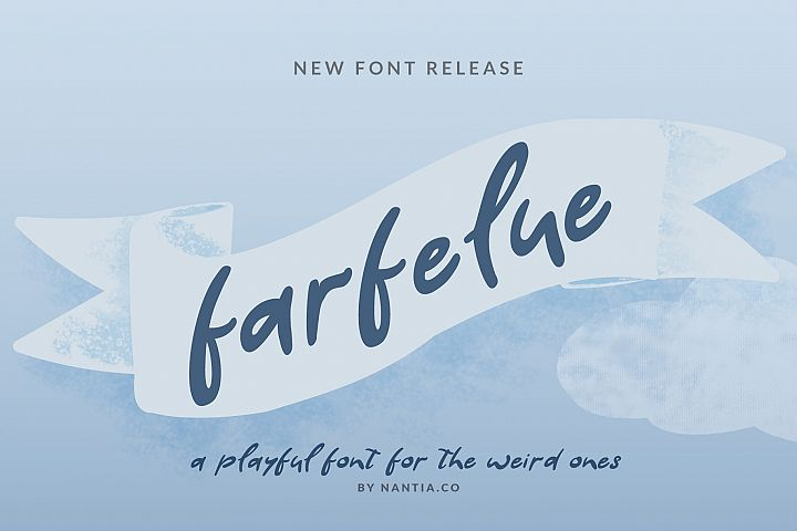 Farfelue, playful font for the weird ones!